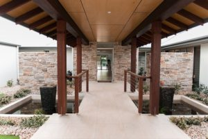 Portico and Walkway